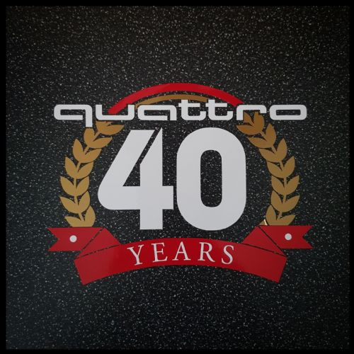 LIMITED EDITION 40th Anniversary Quattro Sticker